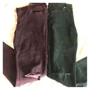 2 Pairs is Skinny Just Black Jeans